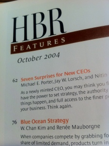 Original feature article in HBR