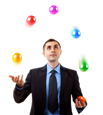 Partners needing to juggle their time better?